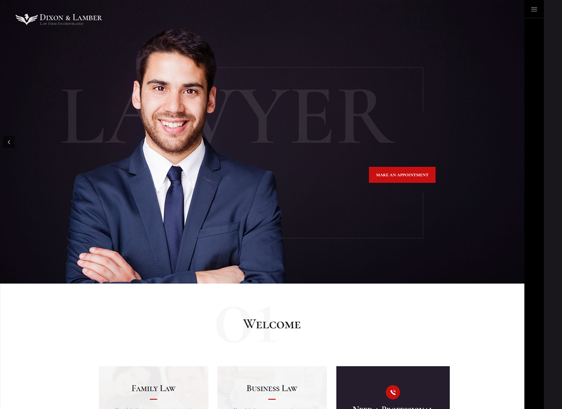 Dixon & Lamber - Law Firm WordPress Theme