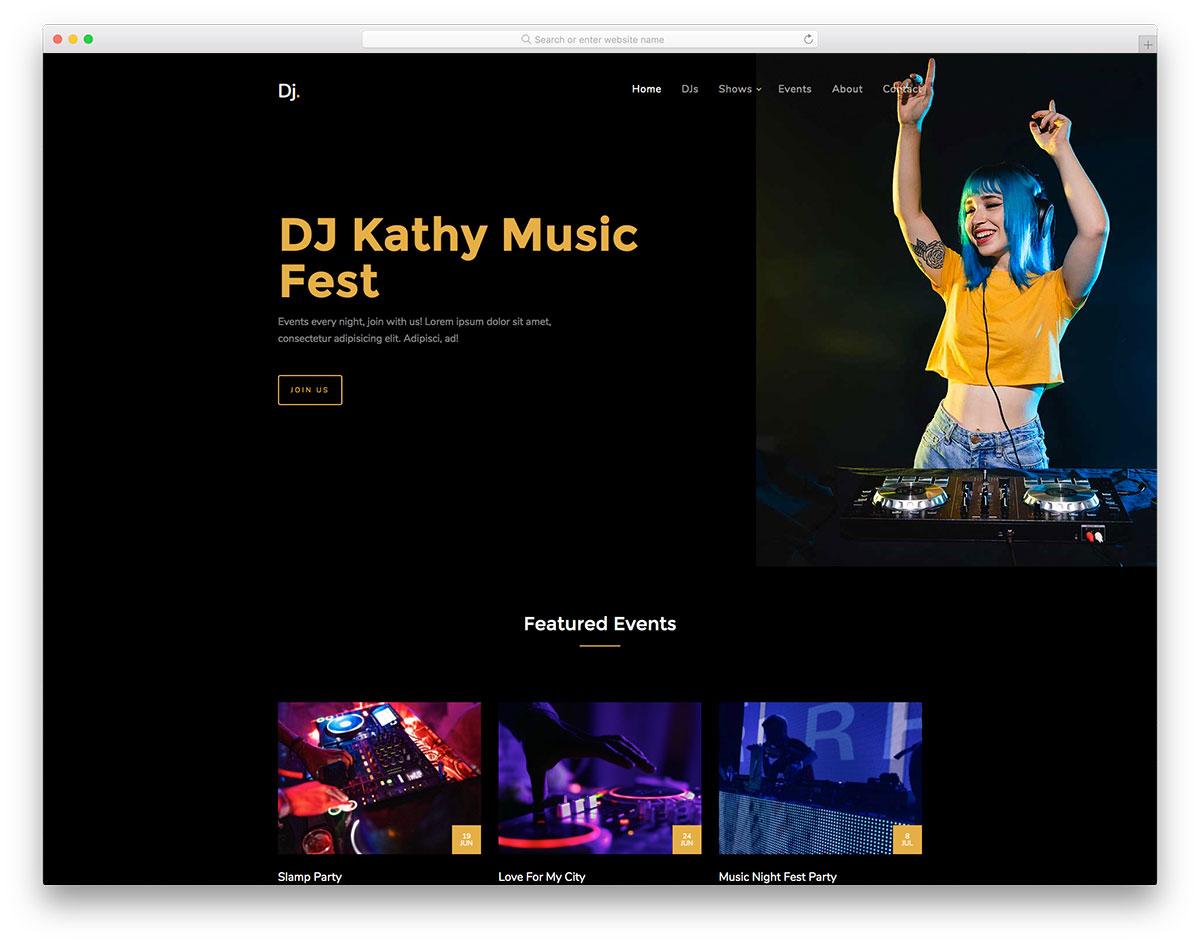 DJ Free Template