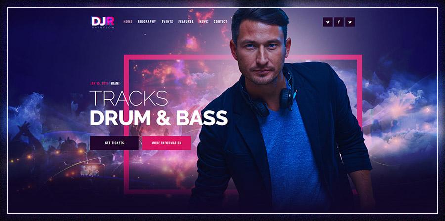 DJ Rainflow | Music Band & Musician WP Theme