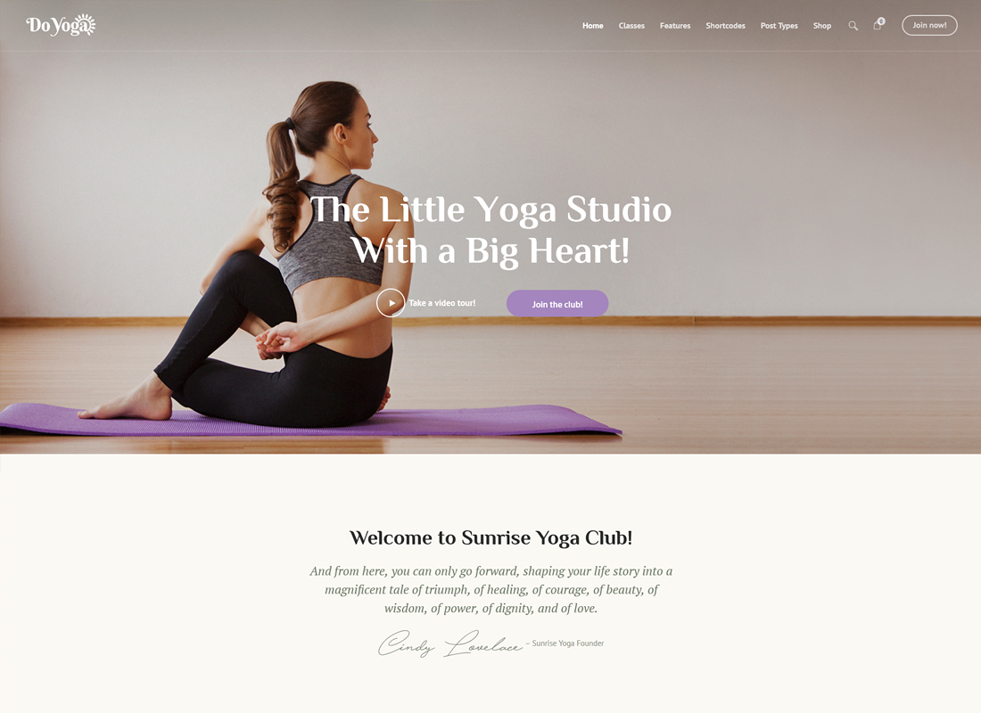 Do Yoga | Fitness Studio & Yoga Club WordPress Theme