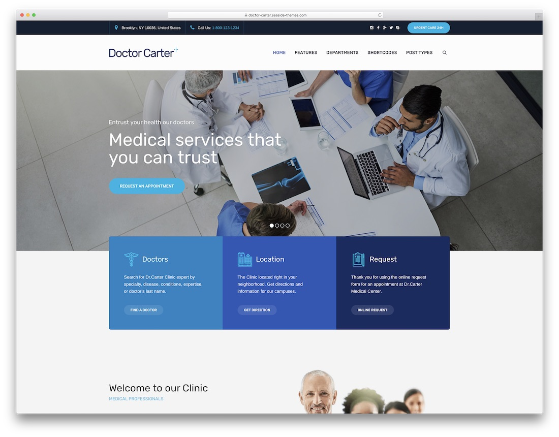doctor carter doctor wordpress theme