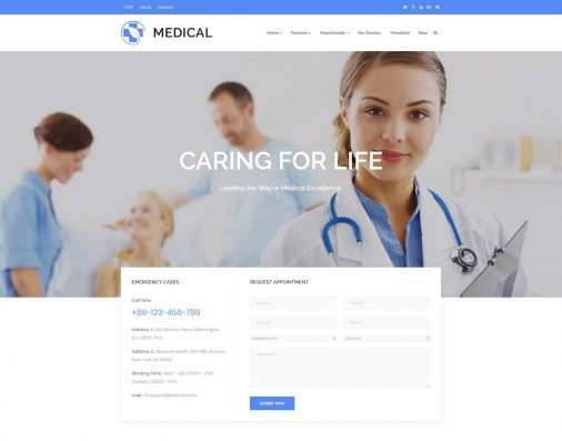 Doctor Website Templates