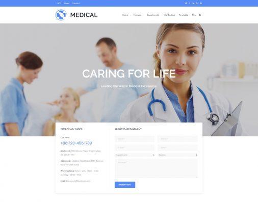 Doctor Website Templates