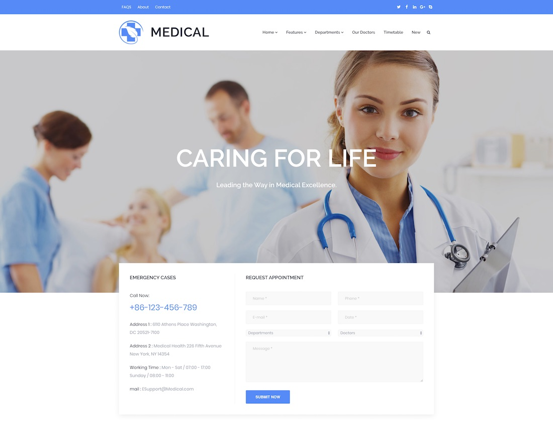 30+ Doctor Website Templates For Medical Practitioners 2018