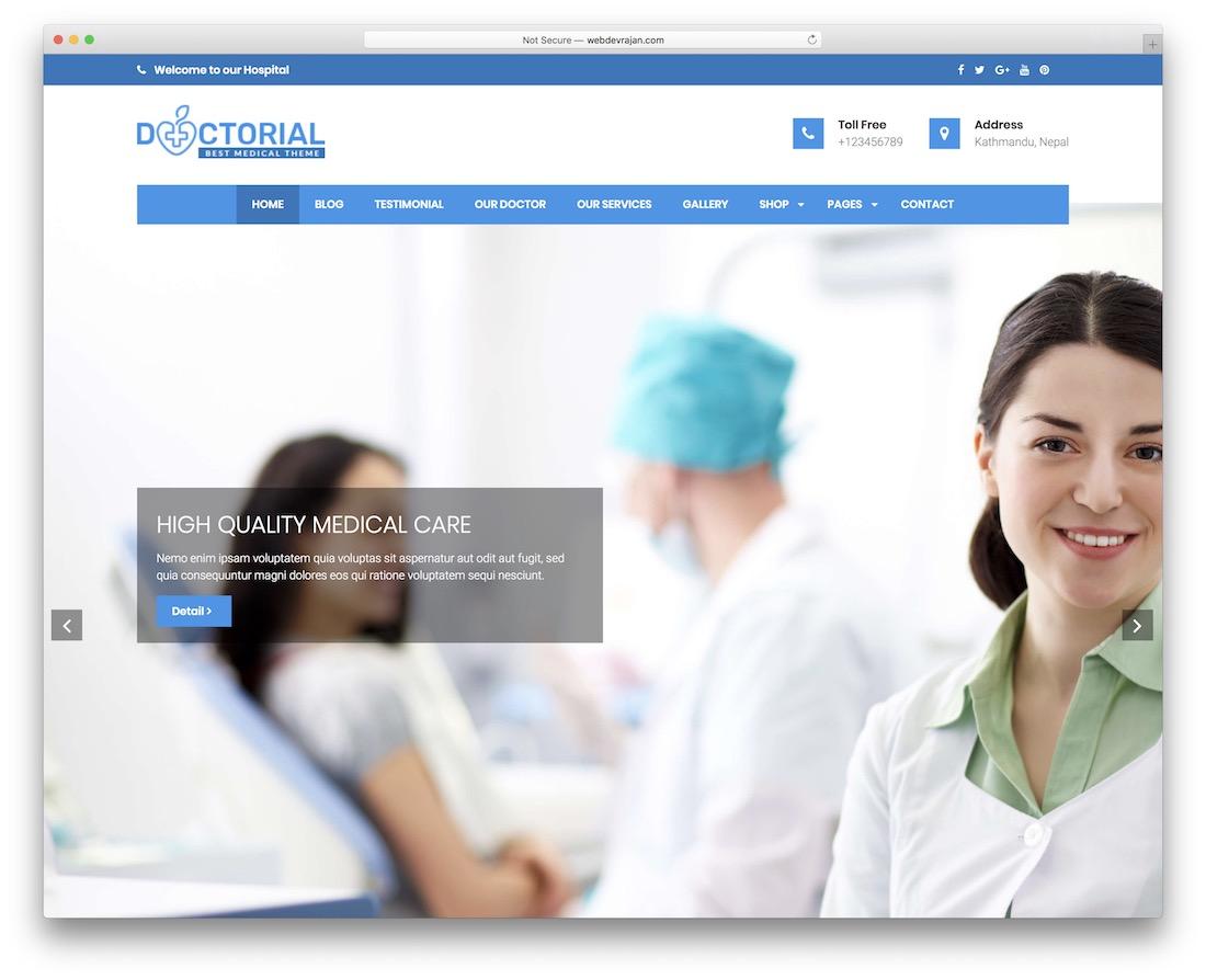 doctorial free wordpress theme