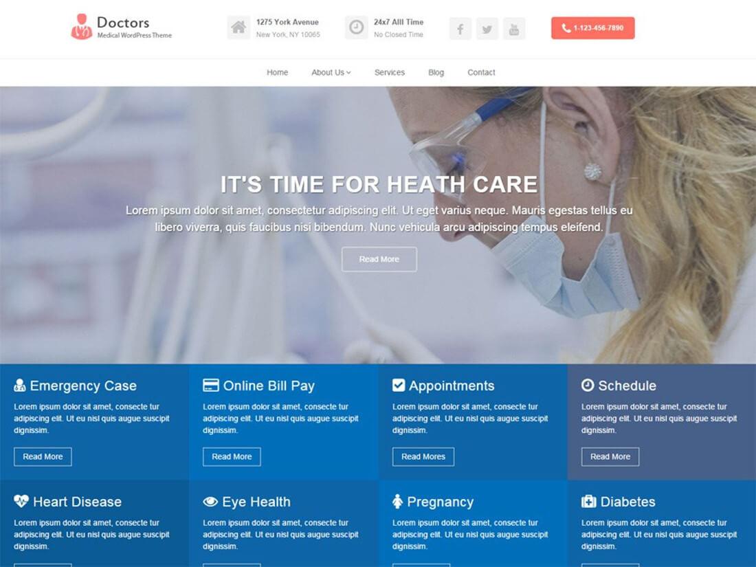 Doctors Medical WordPress Theme