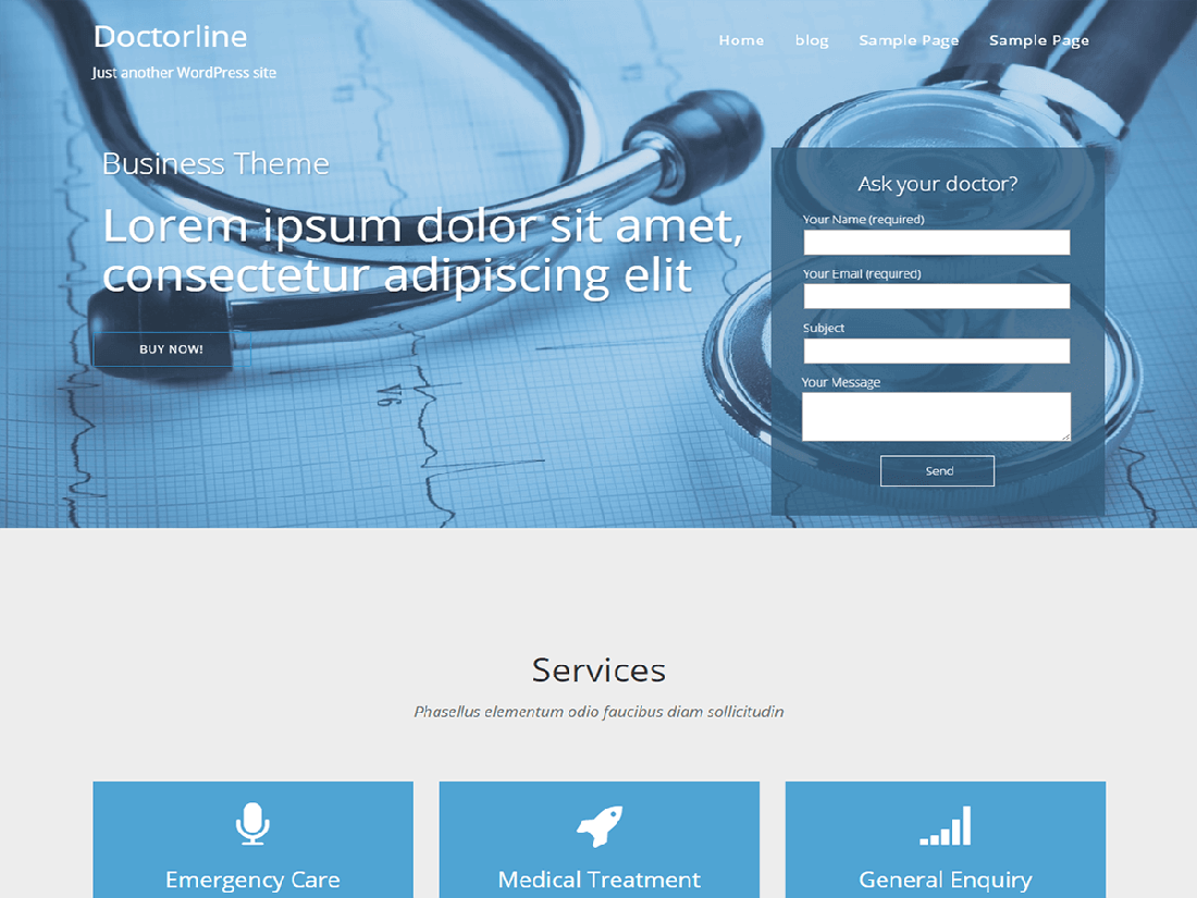 doctorsline Medical WordPress Theme