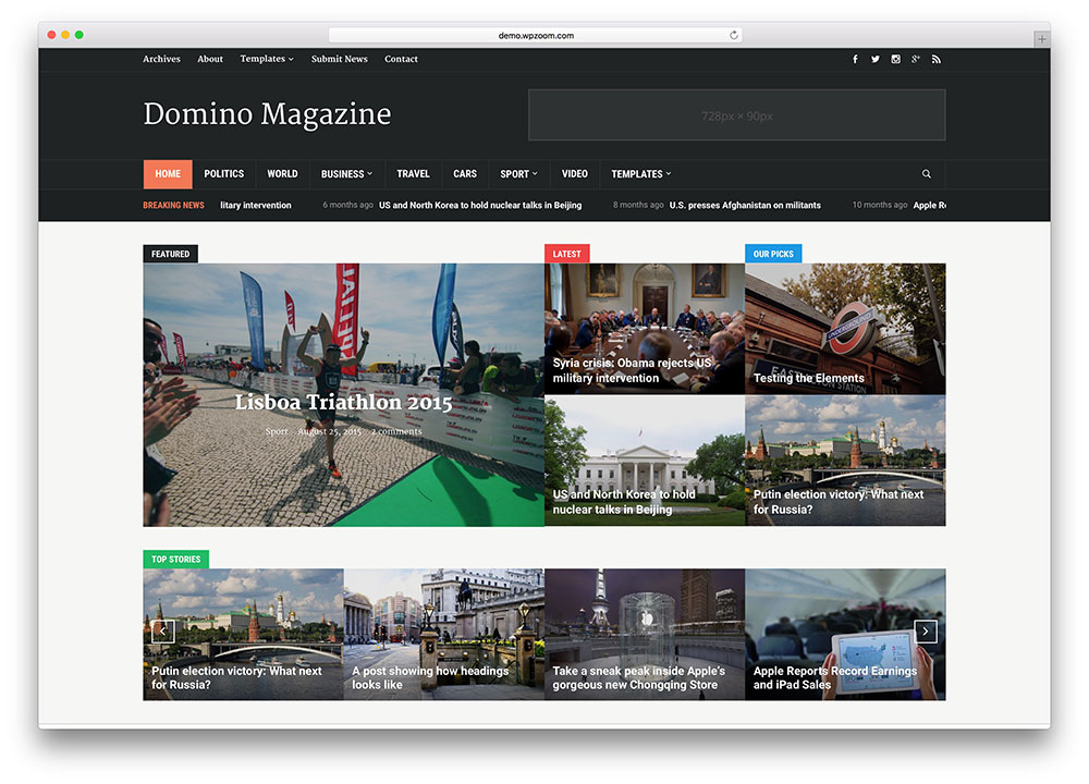 domino-classic-news-portal-wordpress-theme