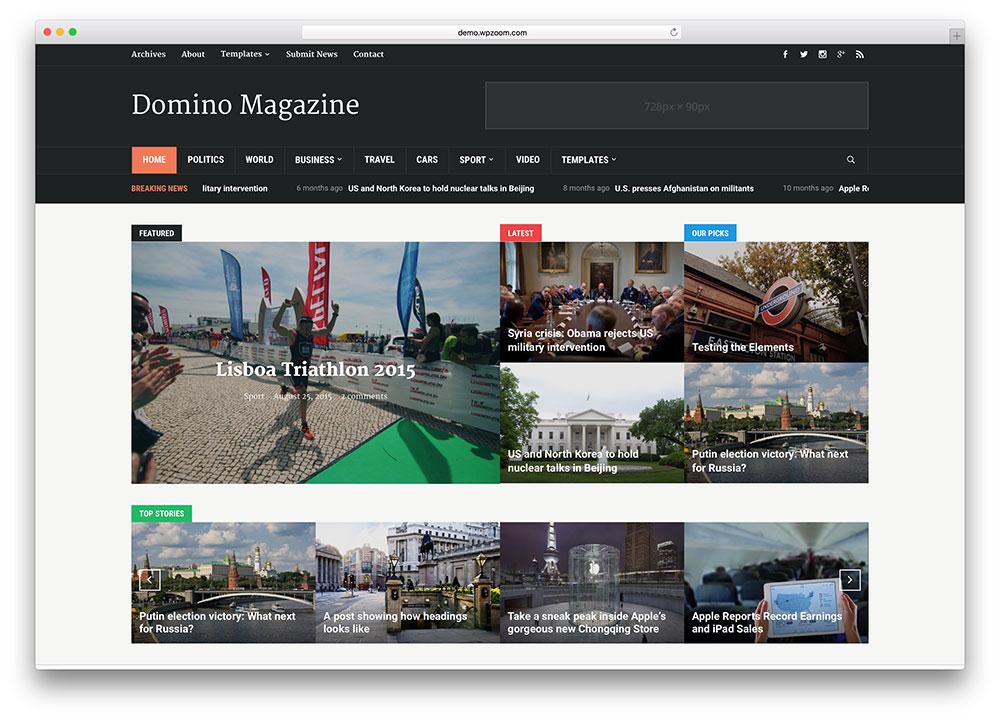 domino-classic-news-portal-wordpress-theme