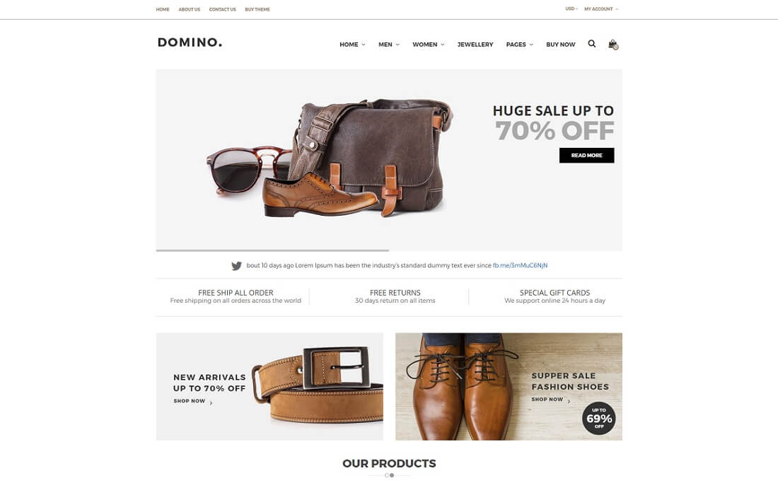 domino fashion shopify theme
