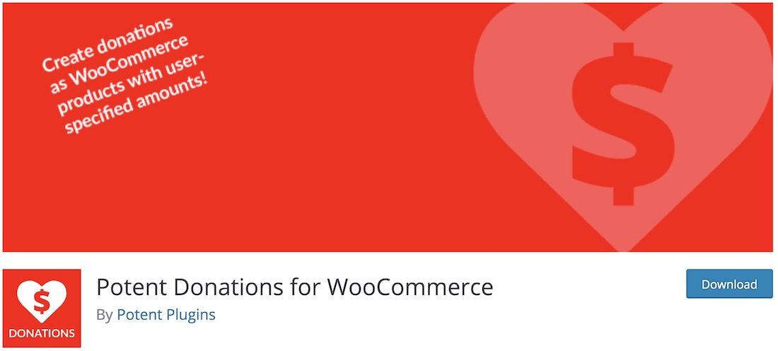 donations for woocommerce plugin