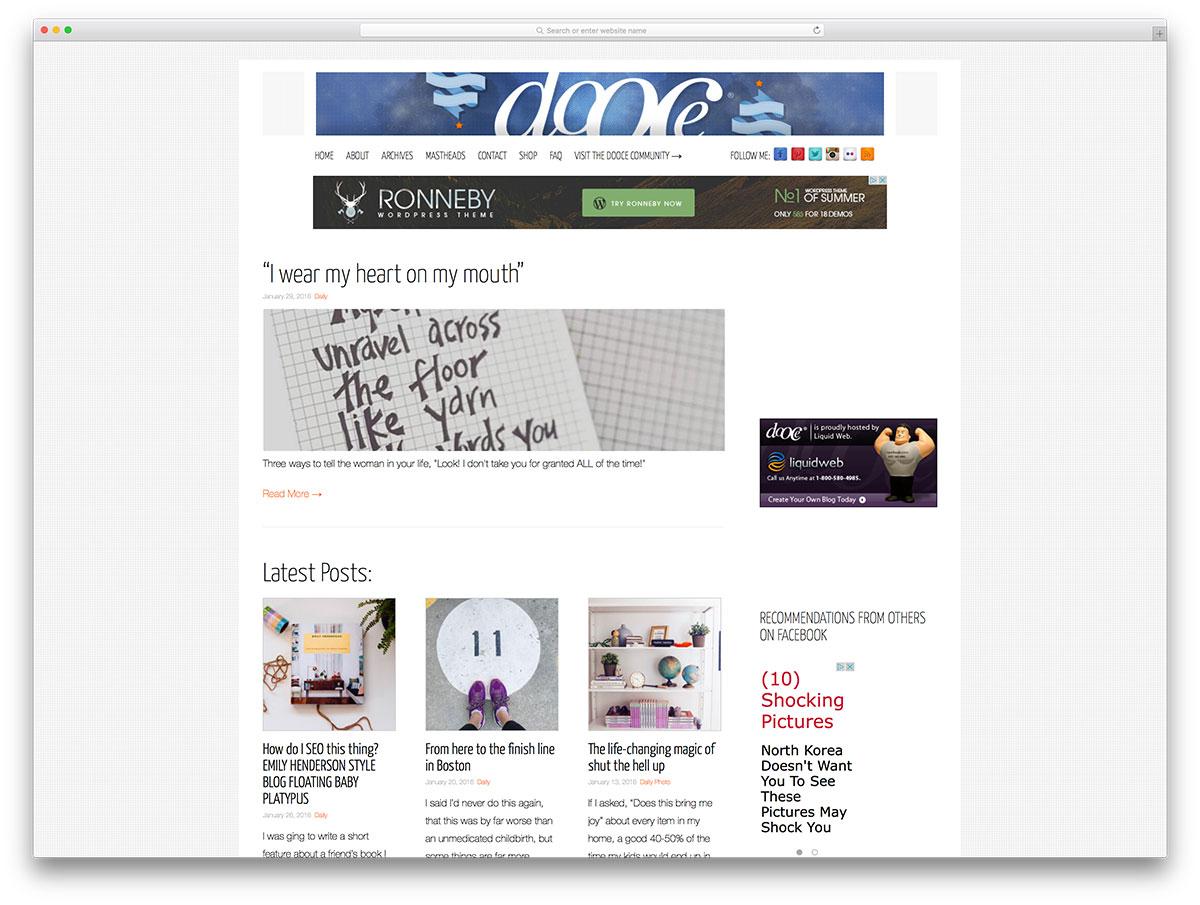Wordpress Blog Examples