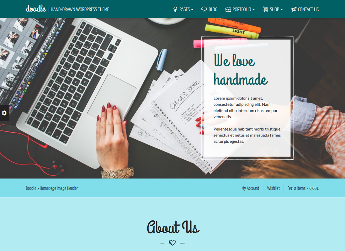 DOODLE   Handmade and Artisan Goods WordPress Theme