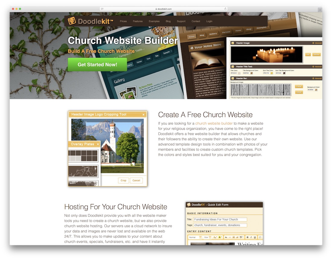 doodlekit church website builder