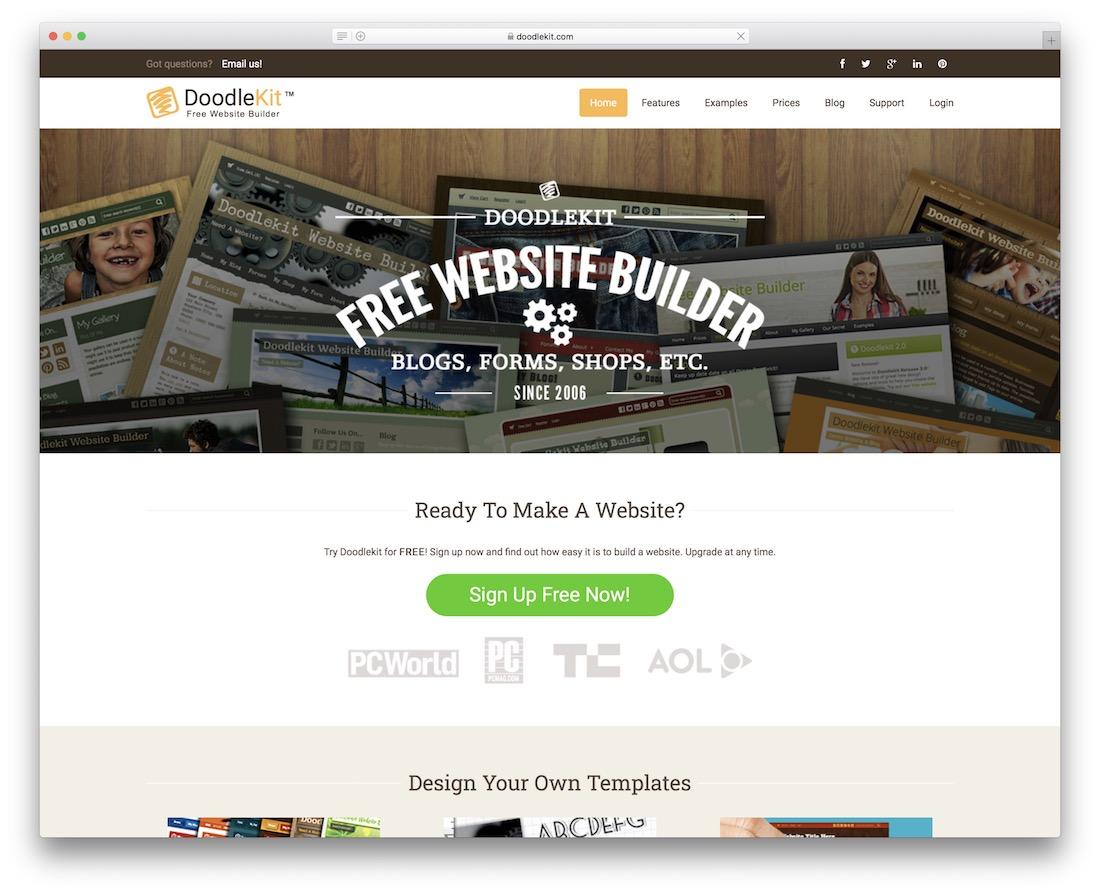 doodlekit community website builder