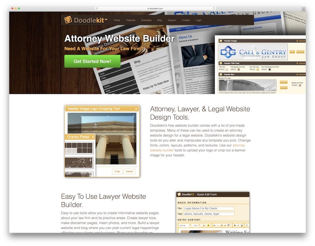 doodlekit website builder for lawyers