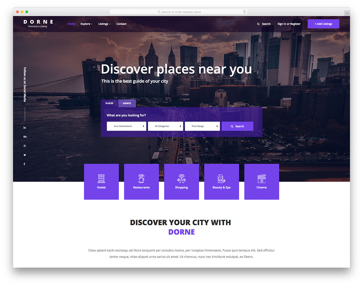 15 best free directory website templates 2018 colorlib dorne maxwellsz
