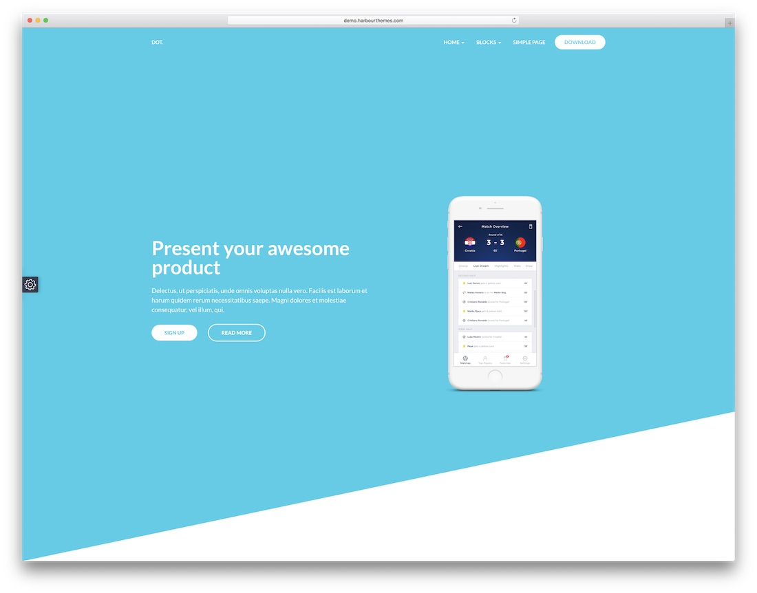dot mobile friendly website template