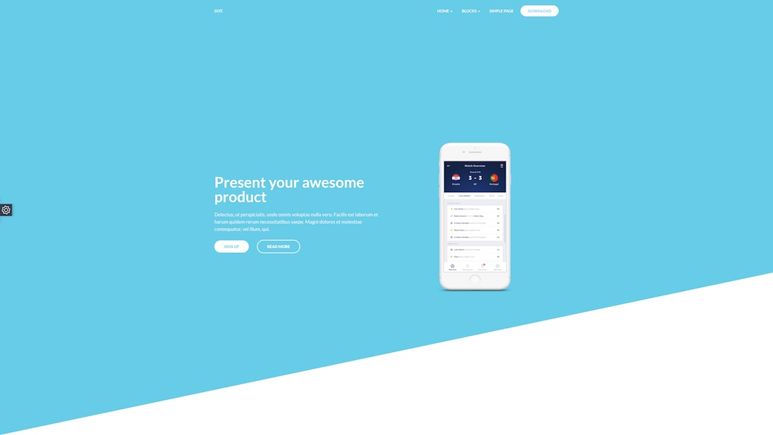 dot mobile-friendly website template