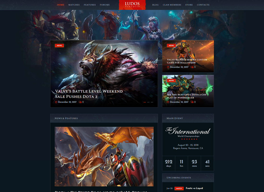 Ludos Paradise - Gaming Blog & Clan WordPress Theme