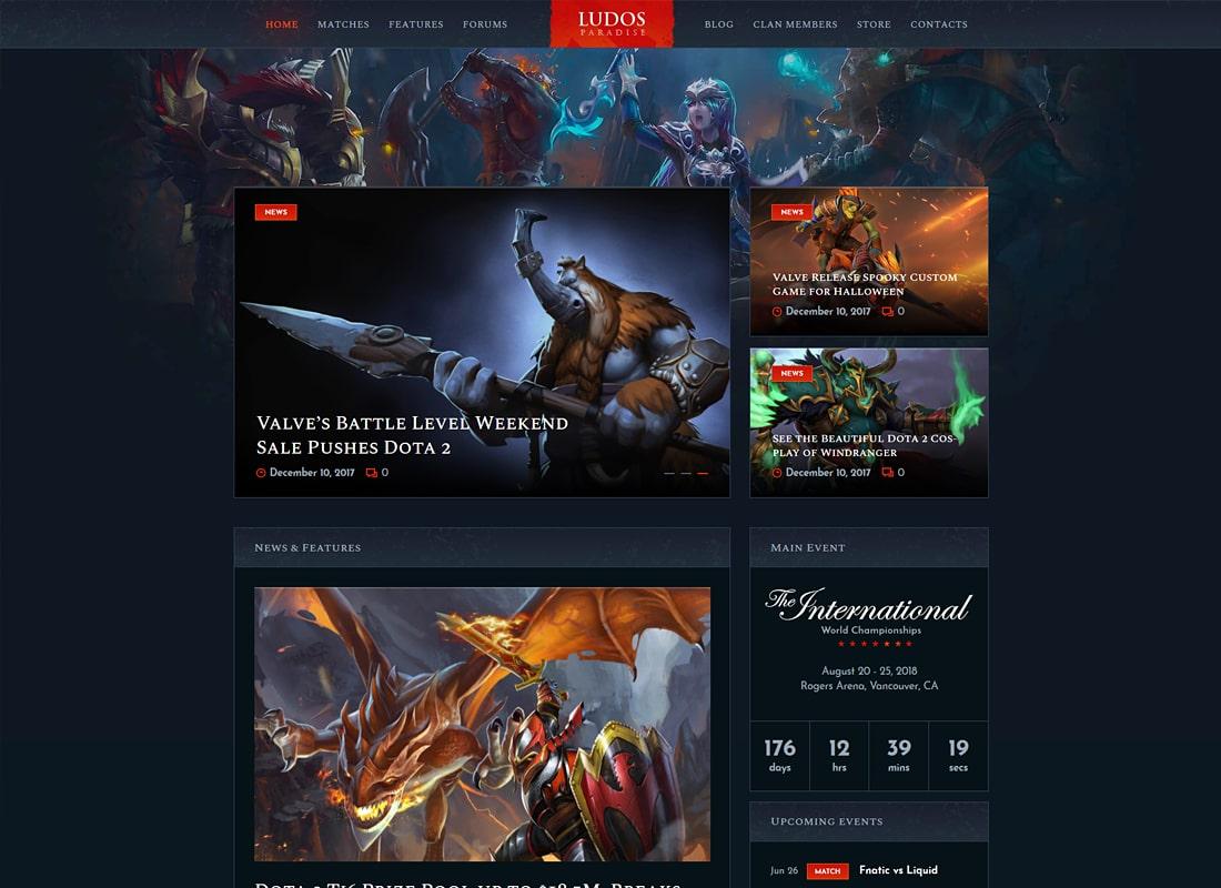 Ludos Paradise | Video Gaming Blog & Clan Esports WordPress Theme