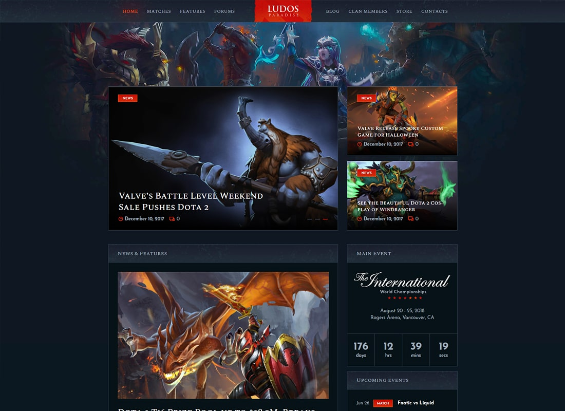Ludos Paradise | Gaming Blog & Clan WordPress Theme