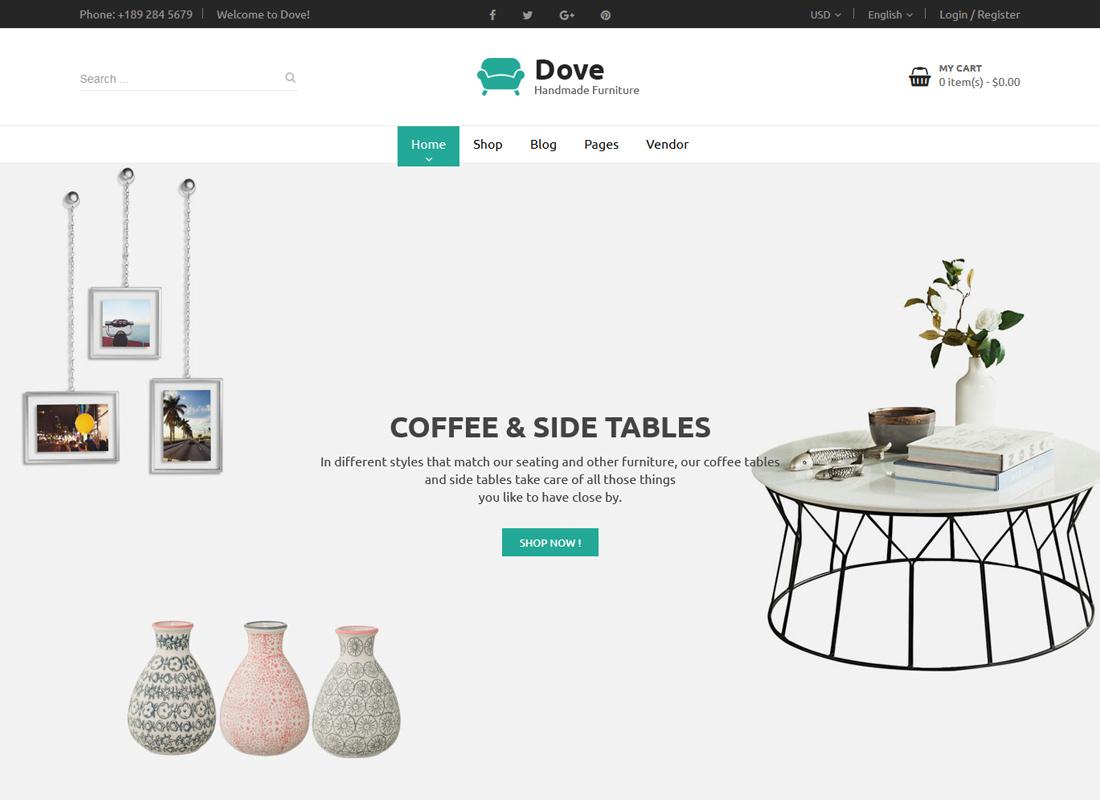 Dove   Handmade Furniture Responsive WooCommerce WordPress Theme