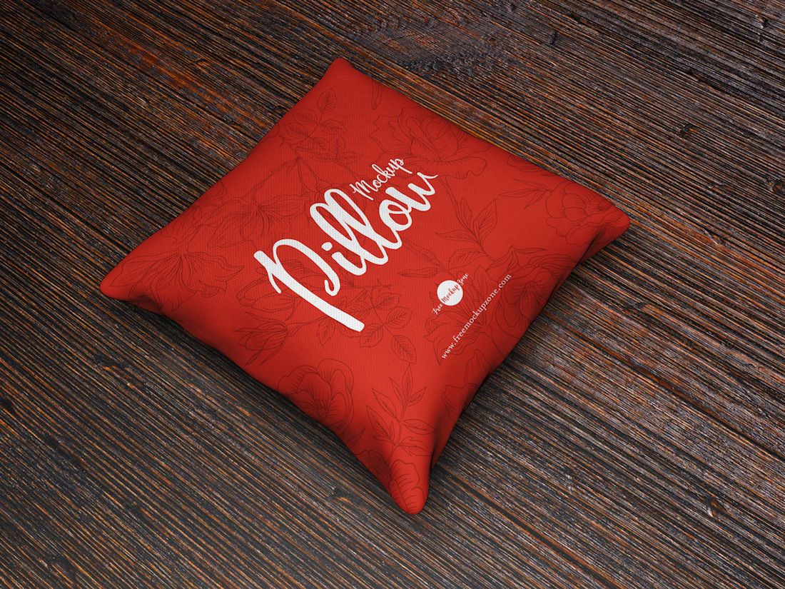 download pillow mockup psd free