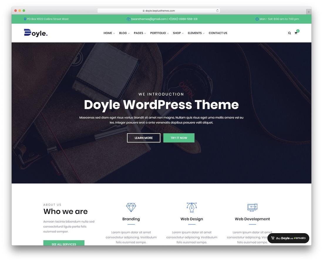 doyle wordpress business theme