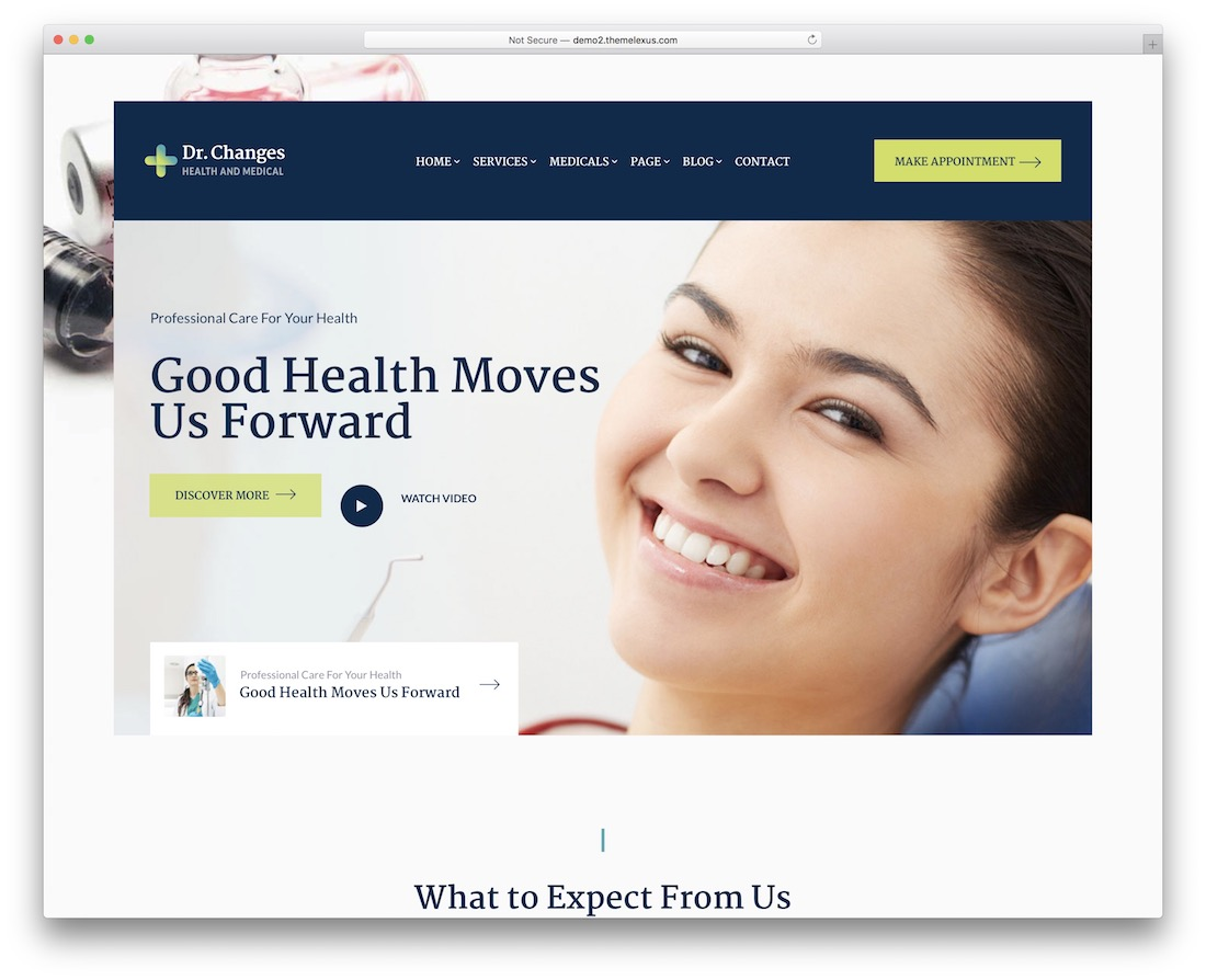 dr changes physiotherapy chiropractor wordpress theme