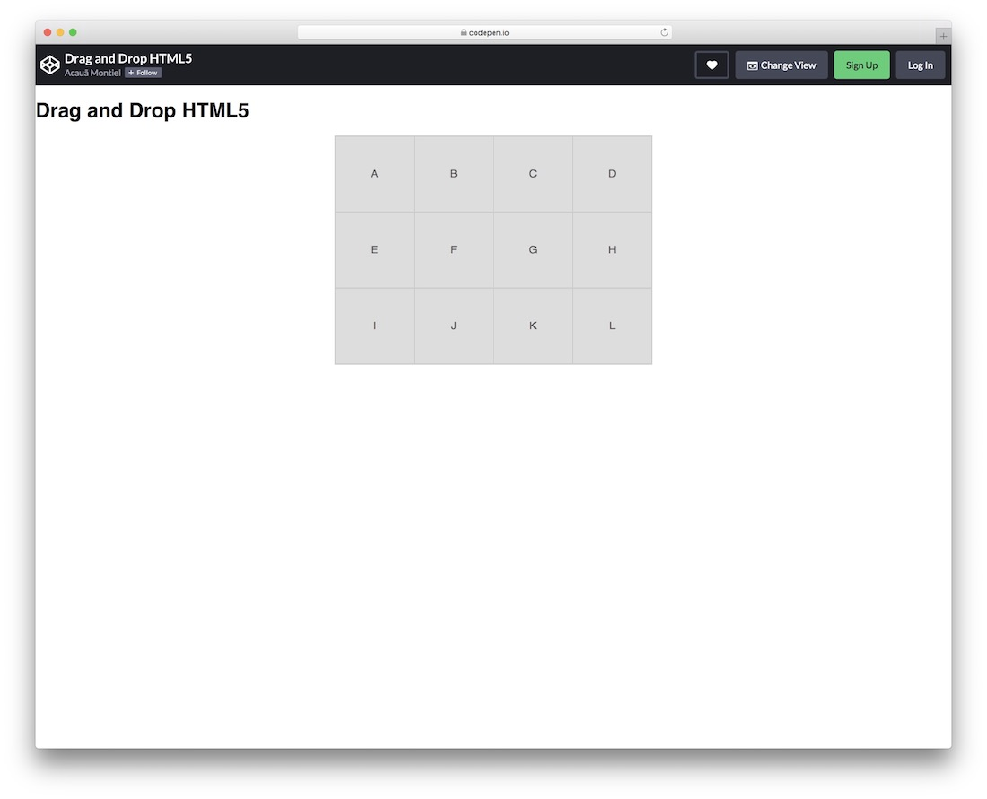 drag and drop html5