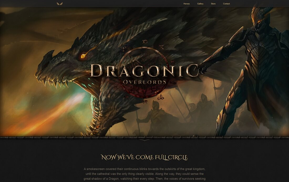 dragonic gaming HTML website template