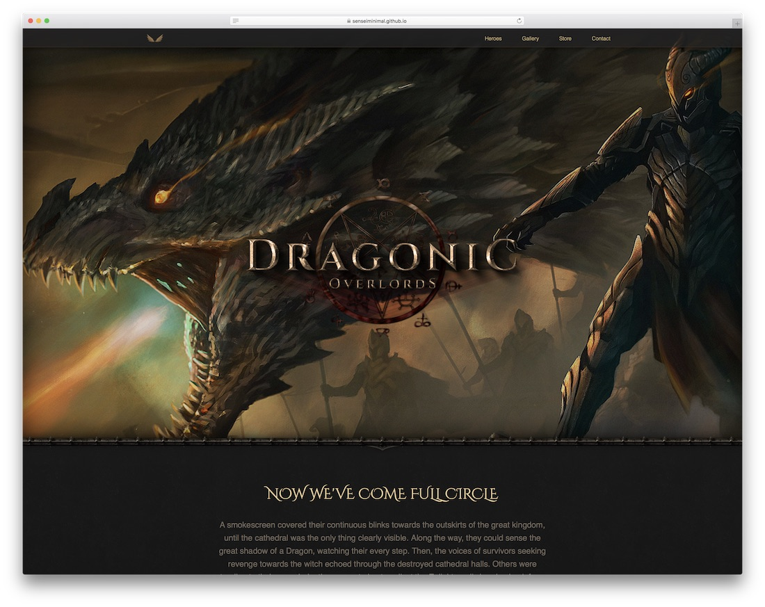 dragonic gaming website template