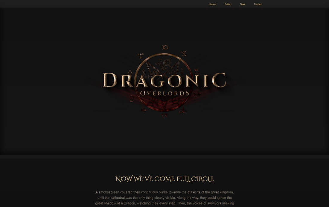 dragonic website template