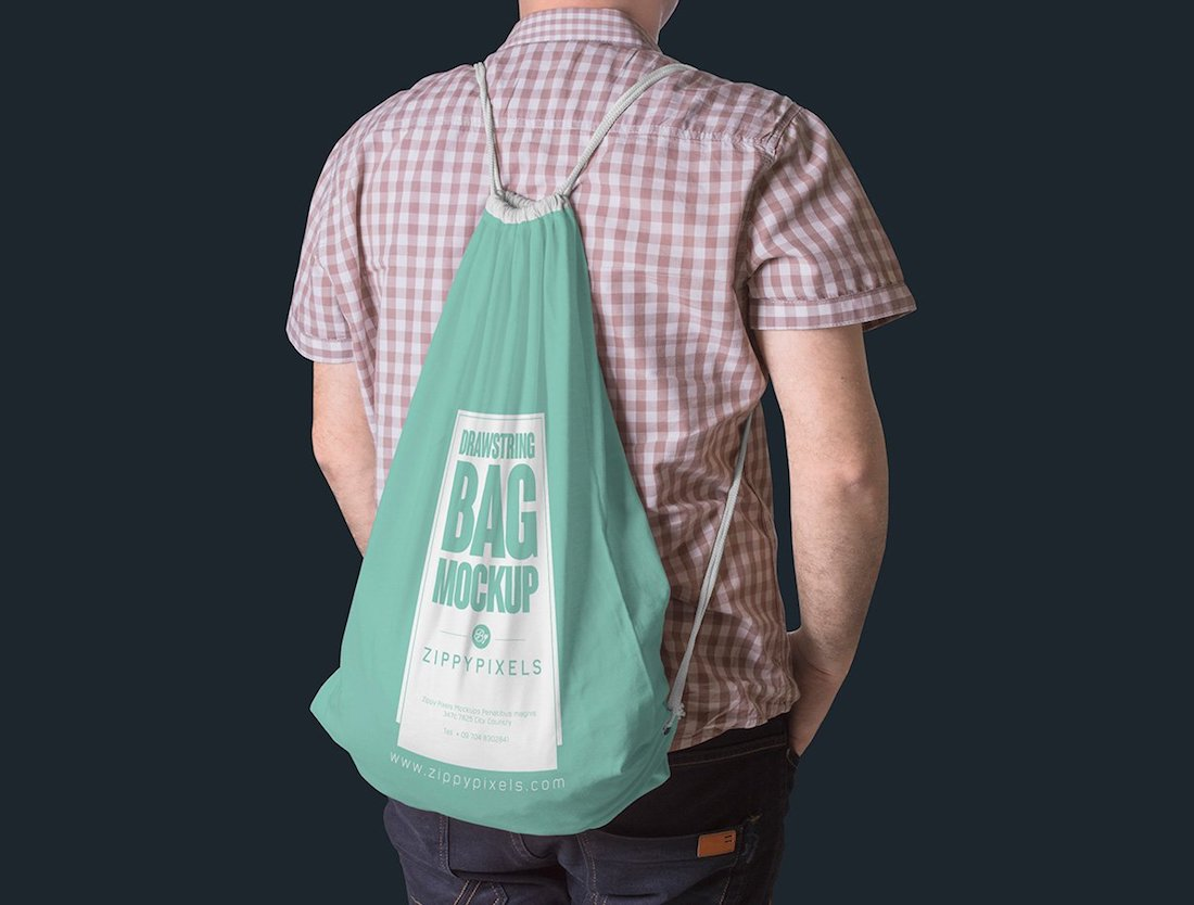 23 Best Drawstring Bag Mockup Templates 2020