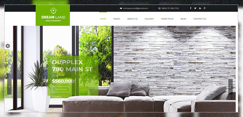 DREAM LAND- Single Property Real Estate WordPress Theme