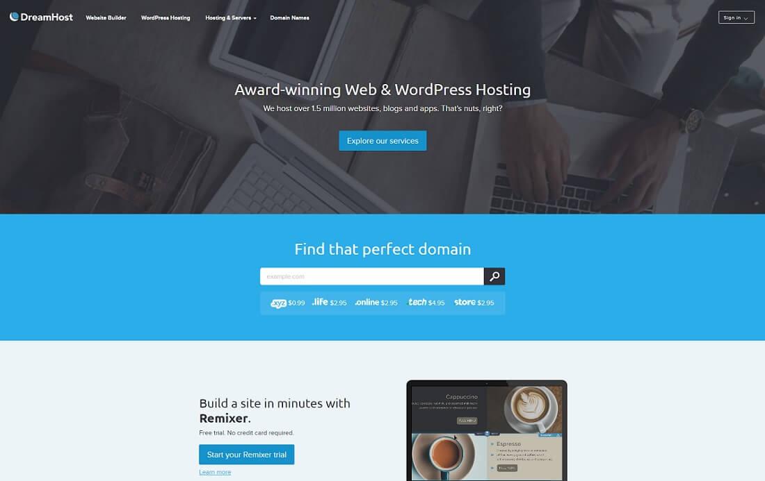 dreamhost web hosting personal website