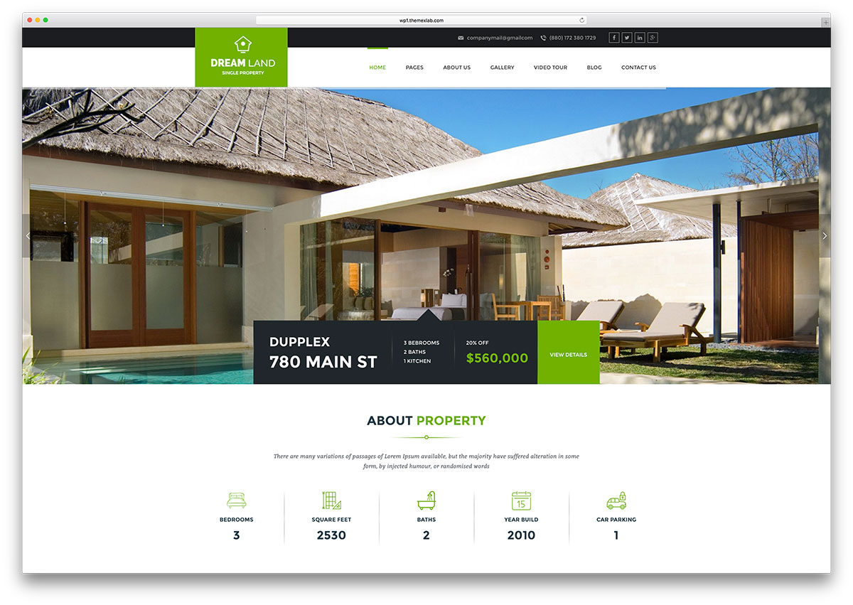 Lovely Dreamland Beautiful Real Estate Html5 Template