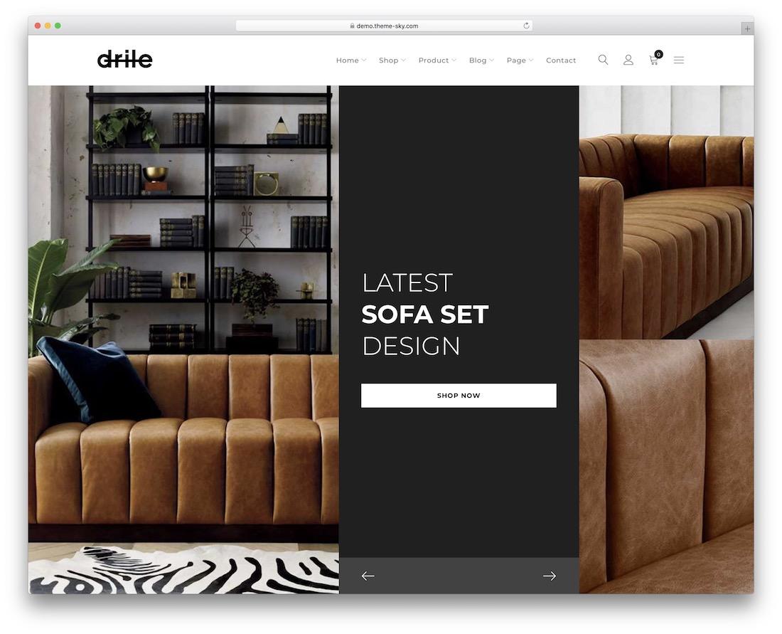drile mega menu wordpress theme