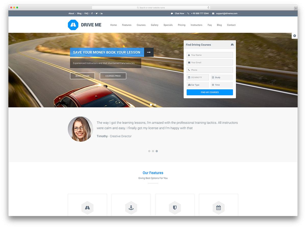 driveme-driving-school-wordpress-theme