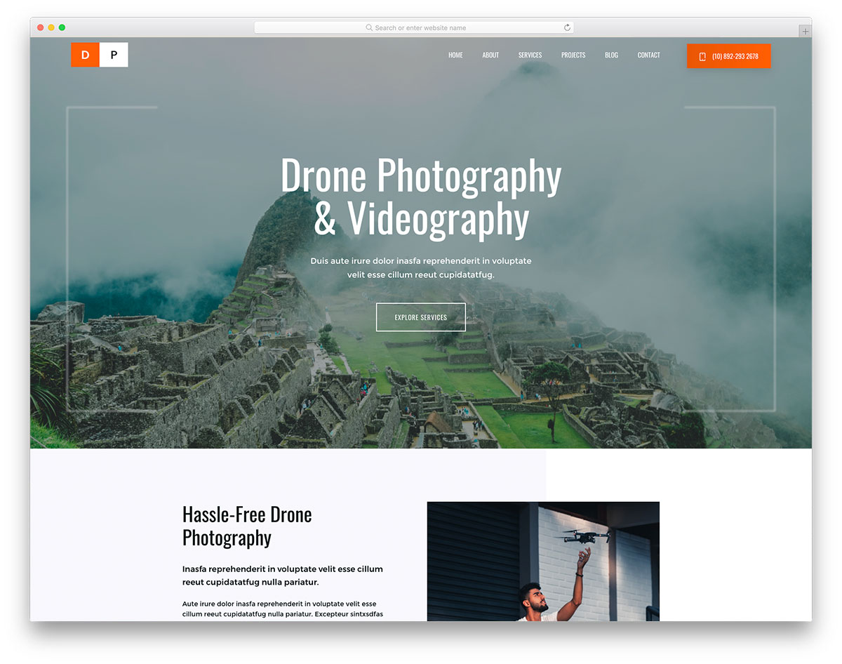 DronPhotography Free Template