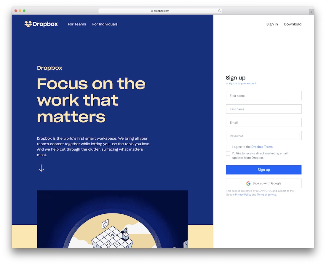 dropbox tool for sharing graphic designs
