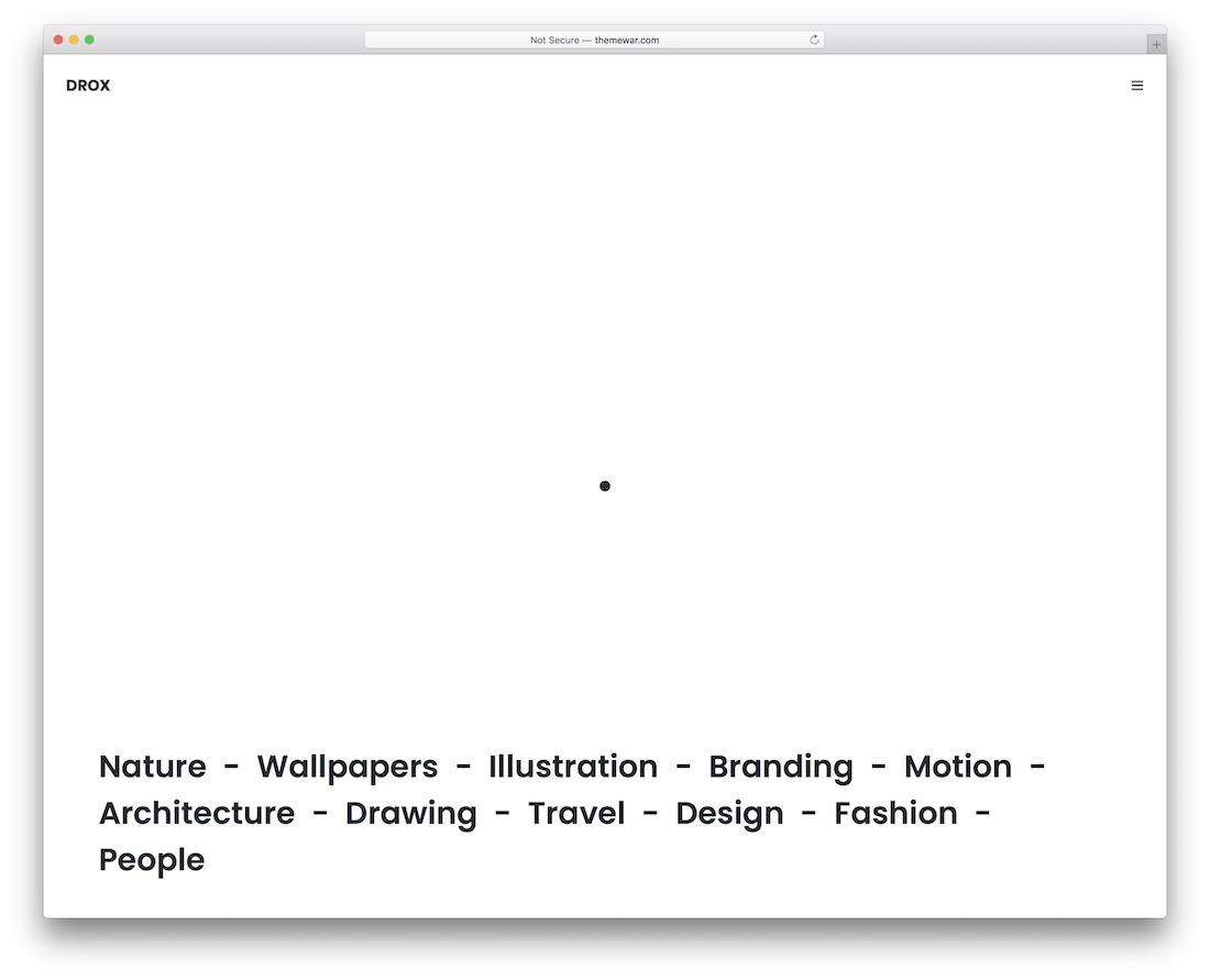 drox clean website template