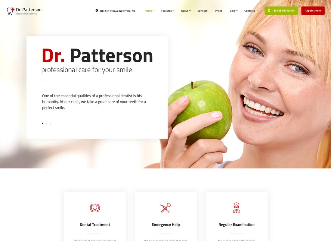 Dr.Patterson   Medicine & Healthcare WordPress Theme