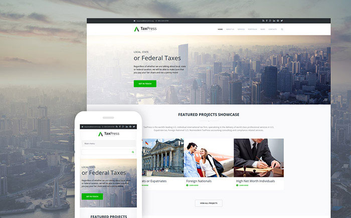 sor corporate business Drupal Template