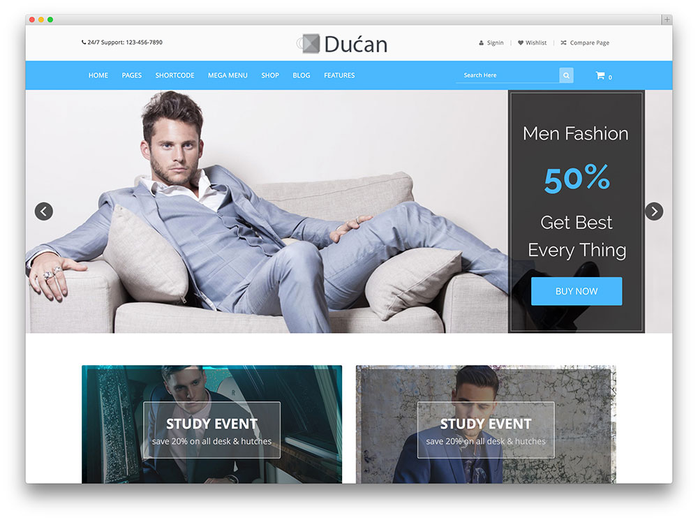 ducan WooCommerce WordPress theme