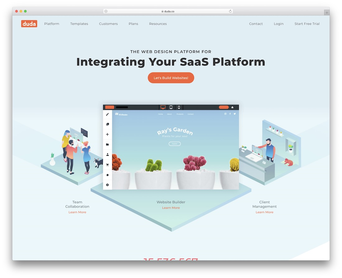 duda small business website builder