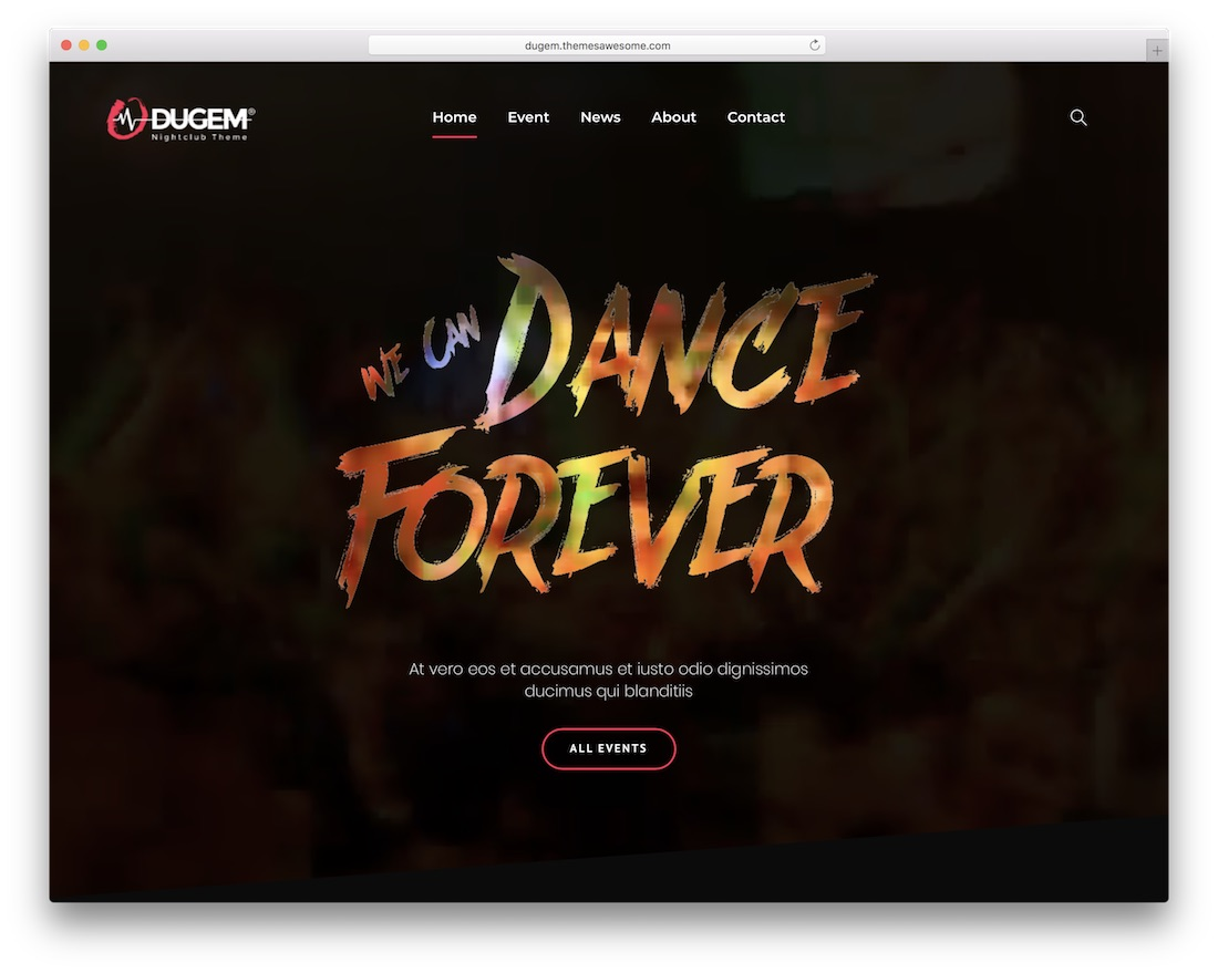 dugem wordpress nightclub theme