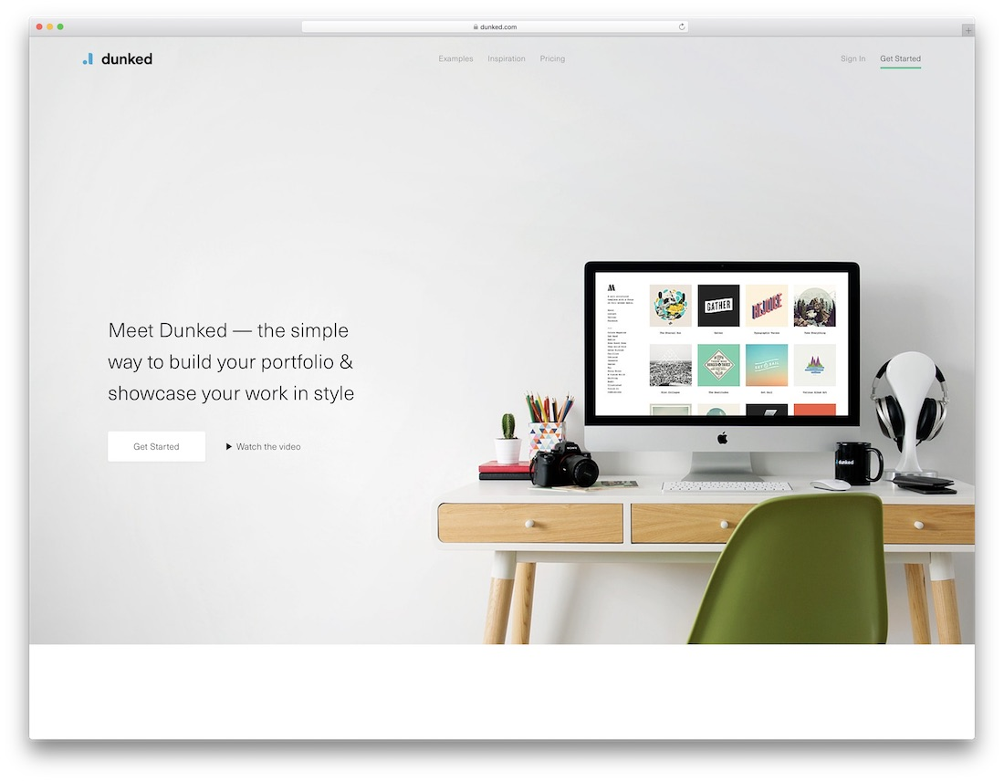 dunked best portfolio website builder