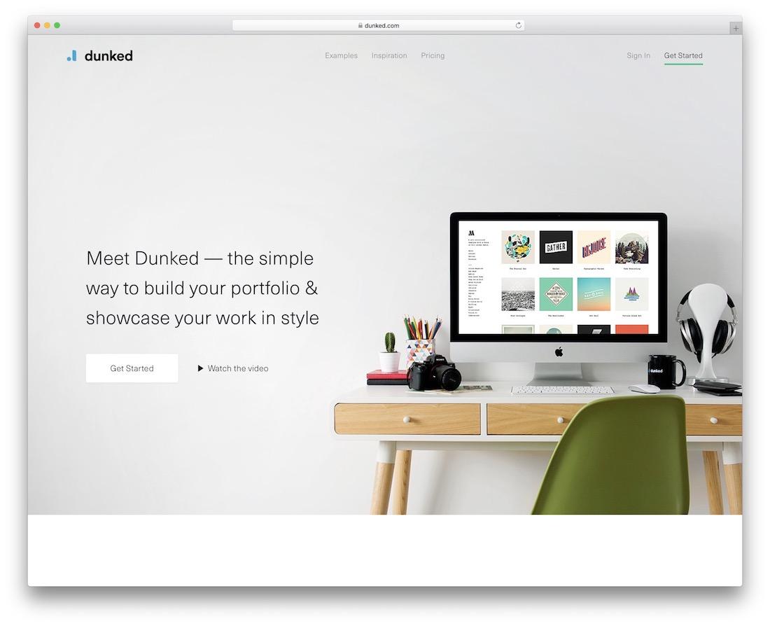 dunked build online portfolio